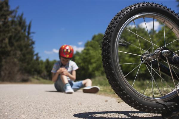Child fallen off bike